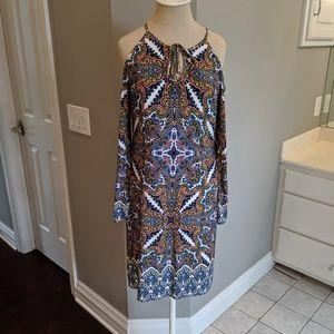 London Times cold shoulder dress